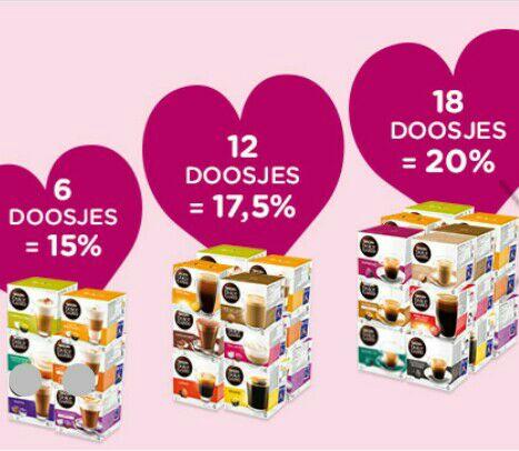 Tot 20% korting op doosjes Nescafe Dolce Gusto @ dolce-gusto.nl