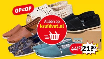 Verschillende modellen en maten TOMS voor €21 @ Kruidvat