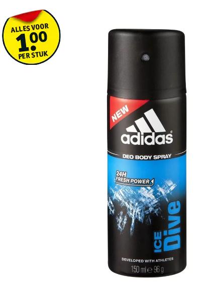 Adidas Deodorant Spray voor €1 @ Kruidvat