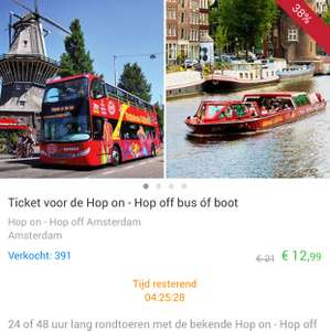 Hop-on-hop-off Tour Amsterdam 24/48 uur tickets @ Social Deal