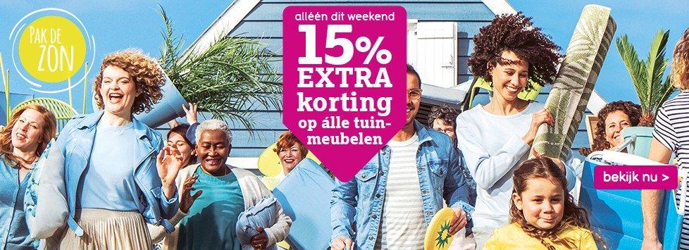 15% korting op alle tuinmeubelen @ Leenbakker