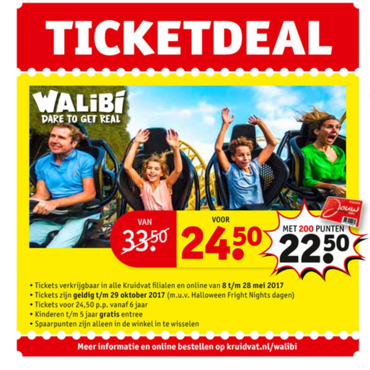 Tickets Walibi - €24,50 (€22,50 met 200 punten) @ Kruidvat