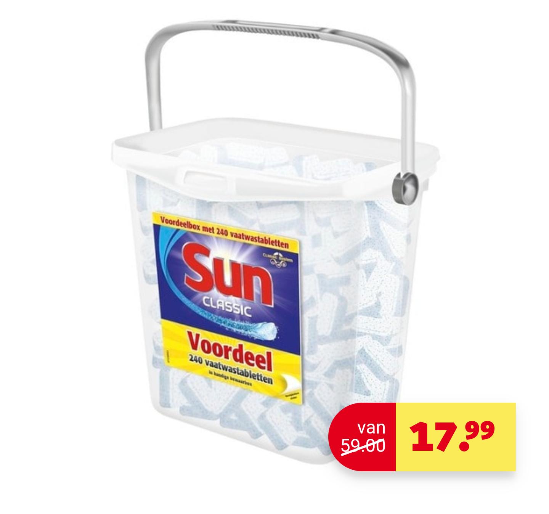 Sun Classic 240 Vaawastabletten in Bewaarbox voor €17,99 @ Kruidvat