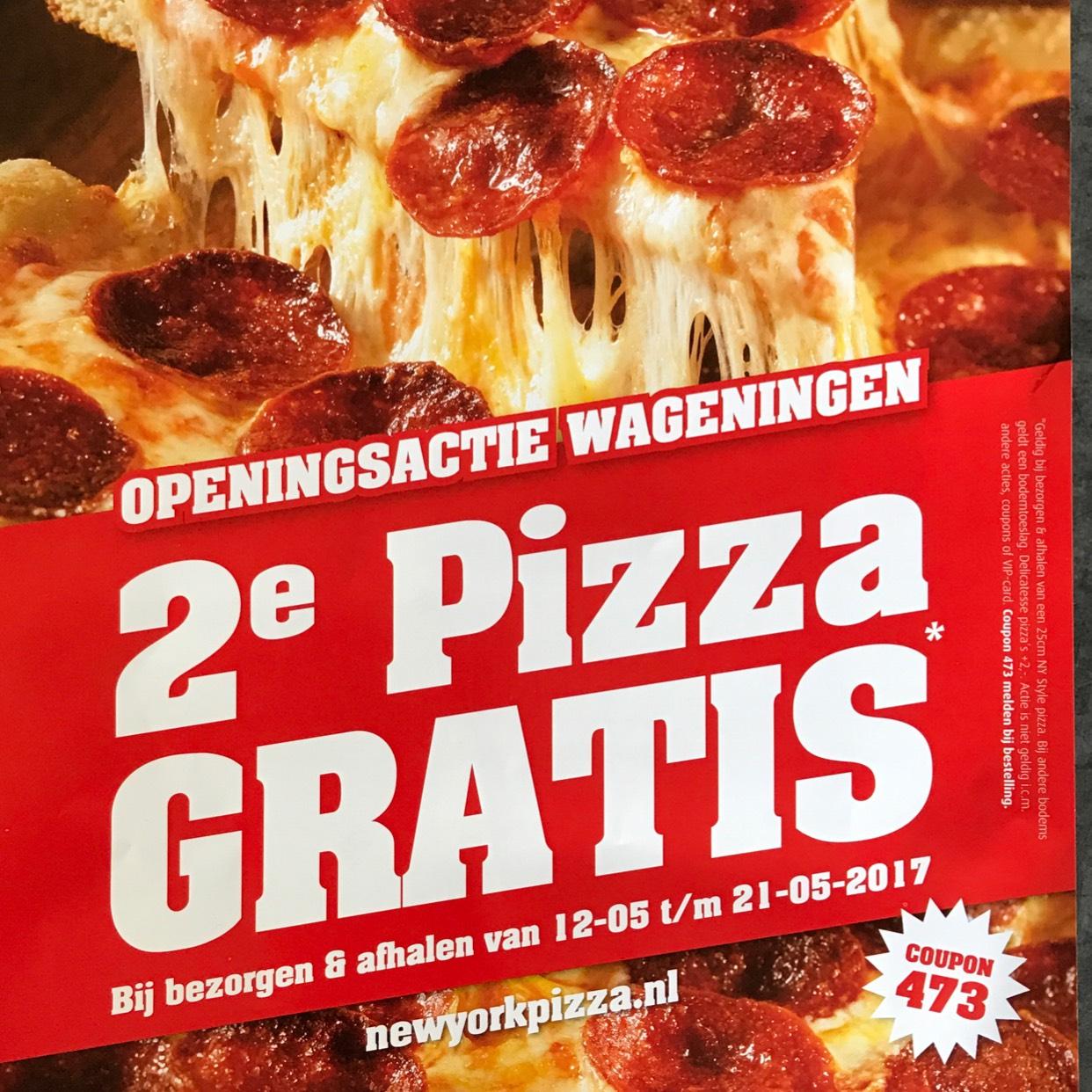 2e Pizza Gratis Wageningen NYP