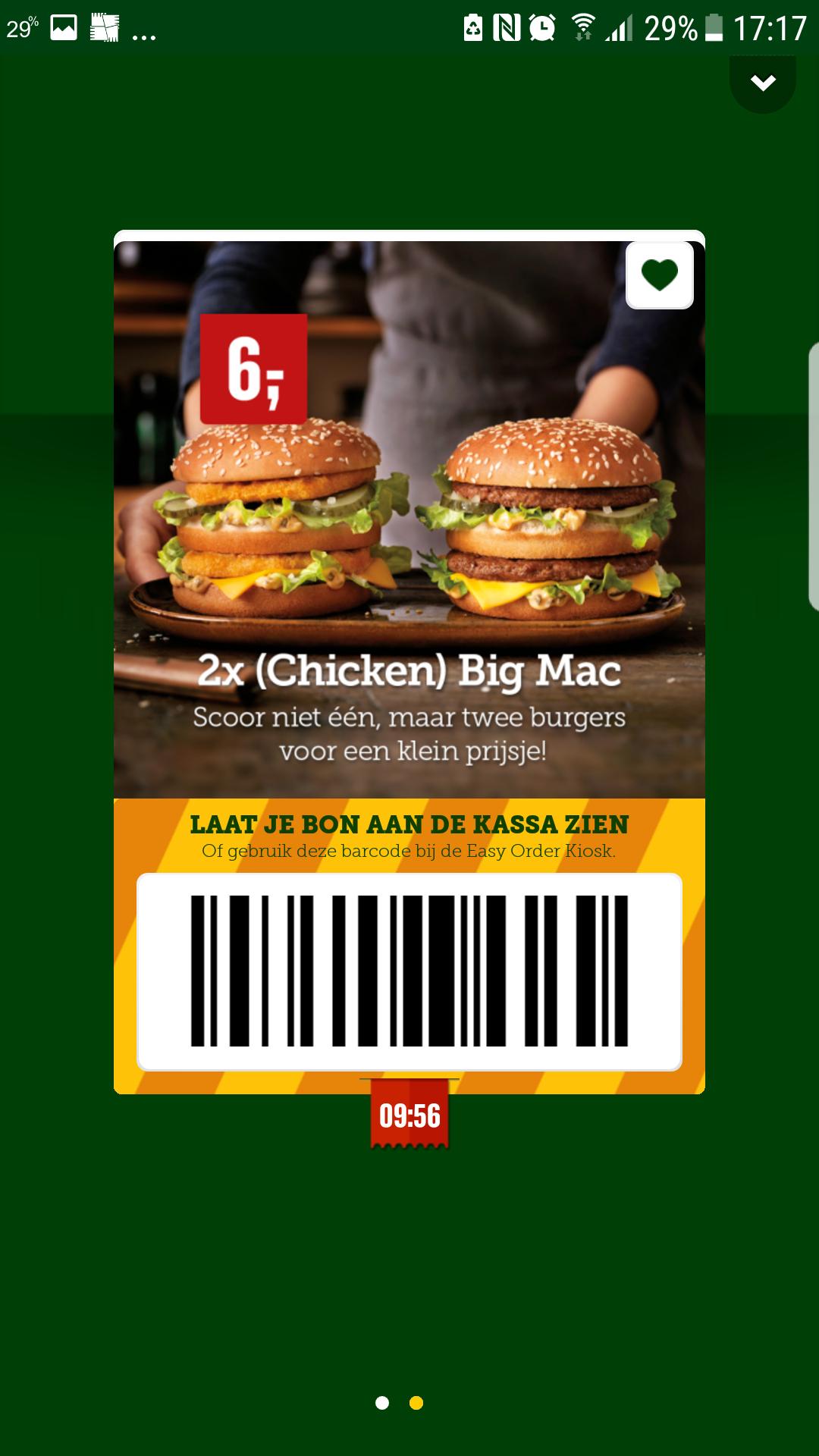 2 Bigmac  voor maar 6 euro @ McDonald's