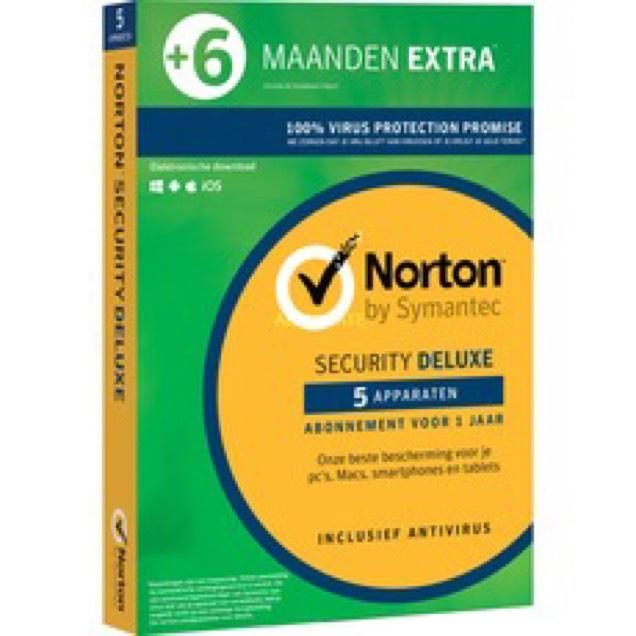 Norton 18 maanden met 5 apparaten (deluxe) voor €39,99 @ Alternate