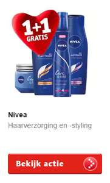 Nivea gezichtsverzorging 1+1 gratis @ Kruidvat