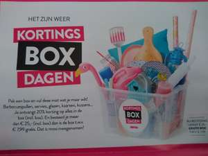Kortings Box dagen 20% korting + gratis box* @ Xenos