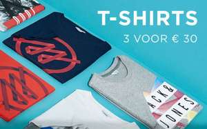 3 T-Shirts voor €30 @ Jack & Jones
