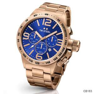 TW Steel CB183 Canteen chronograaf heren horloge 45mm rosé goud @ Watch2day.nl