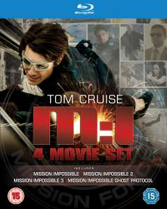 Mission: Impossible 1 t/m 4 Boxset op Blu-ray voor €18