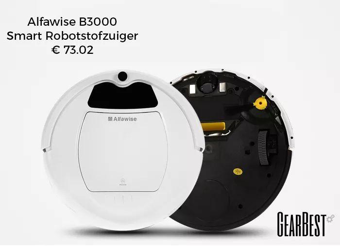 Alfawise B3000 Smart Robotstofzuiger voor €73,02 @ Gearbest