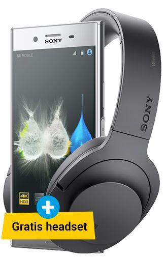 Sony Xperia XZ premium + Sony MDR-100ABN Headphone voor 655 euro
