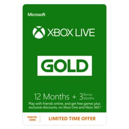 15 maanden Xbox Live Gold (digitale code) voor €31,25 @ GAME