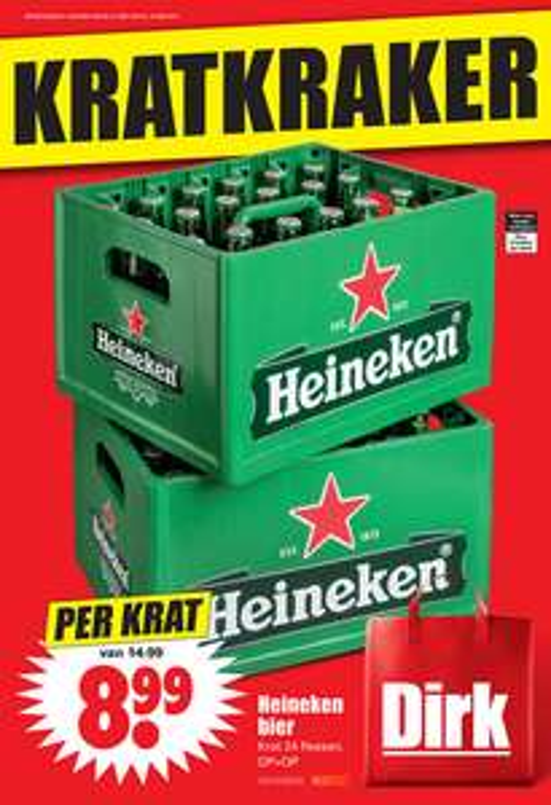 Krat Heineken €8,99 @ Dirk