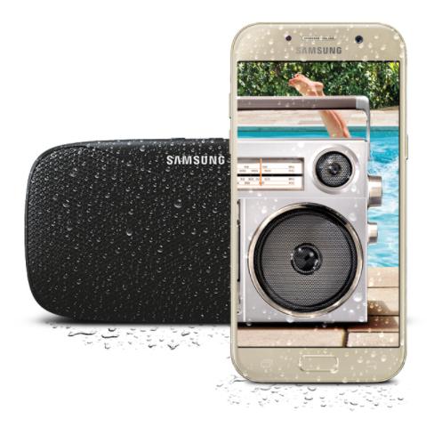 Gratis Level Box Slim speaker bij aankoop van een Galaxy A5 of A3 (2017) @ Samsung.com