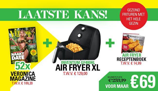 Jaarabbo Veronica Magazine+Inventum Airfryer GF400HL + Receptenboek voor €69 @ Veronica Magazine