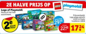 Lego en Playmobil 2e halve prijs @ Kruidvat