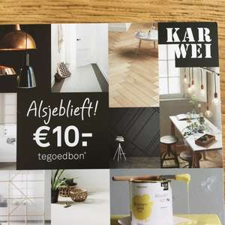 10 euro korting via karwei.nl (vanaf 50 euro)