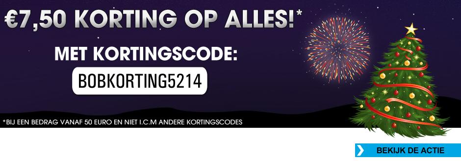 Kortingscode voor €7,50 korting op alles (min. bestelwaarde €50) @ Bobshop