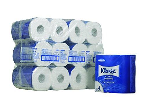 Kleenex Toillet rollen Extra Comfort Premium 4 -laags Pak 24 voor €13,53 @ Amazon.de