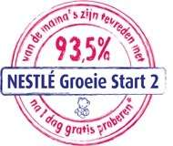 4 gratis proefverpakkingen  Nestlé Groeie Start 2 opvolgmelk @ Nestlé
