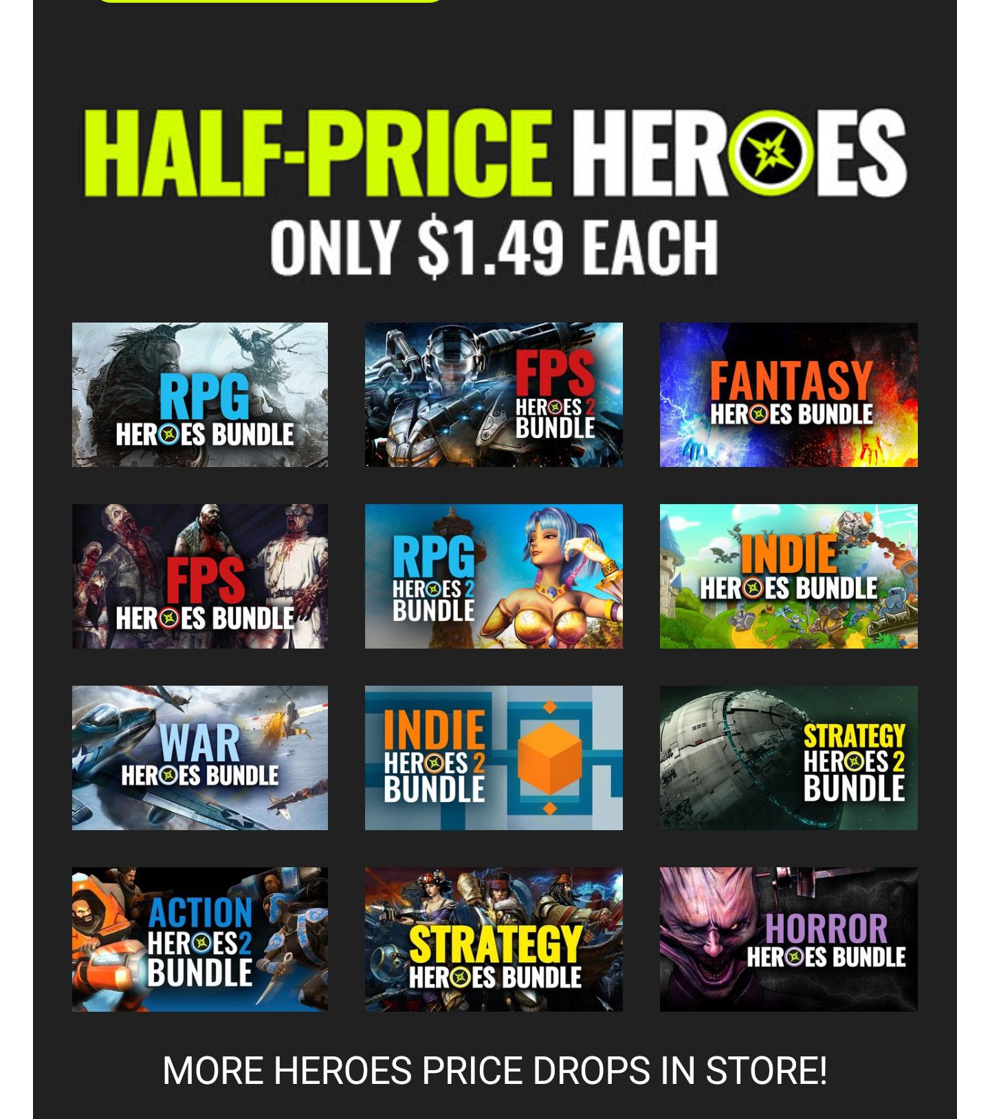Diverse Steam bundels voor  €1,59 @ Bundle Stars
