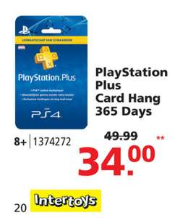 Game-aanbiedingen (o.a. PlayStation Plus 12 maanden voor €34) @ Intertoys (vanaf vrijdag 9 juni)