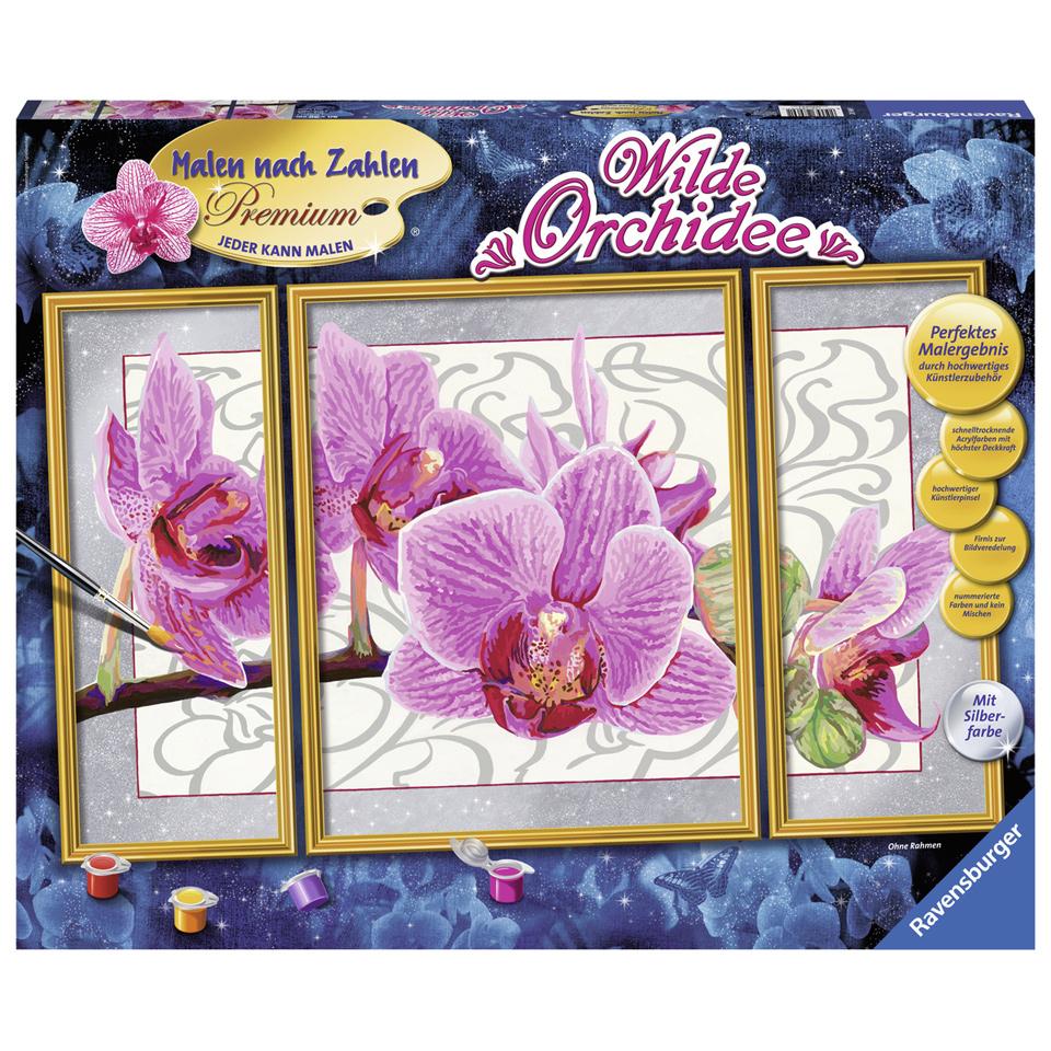 Ravensburger - Wilde orchideeën - Schilderen op nummer voor €24,99 @ Blokker