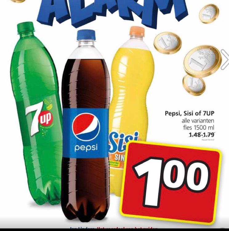 7up , Pepsi , en sisi . voor maar 1 euro . Bij janlinders