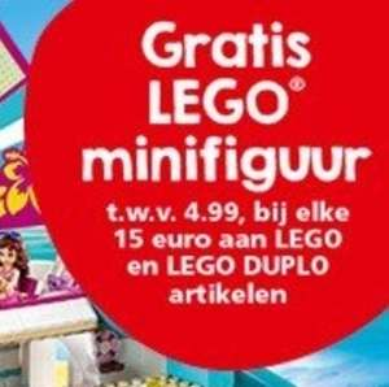 Gratis minifiguurtje LEGO (twee stuks) vanaf €15 bij Intertoys