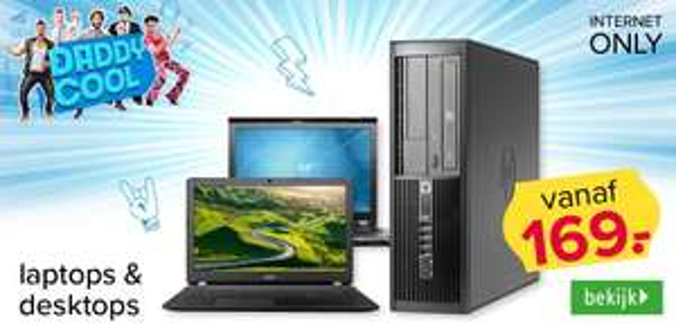 Refurbished laptops/desktops vanaf 169.- gratis verzending @ kijkshop