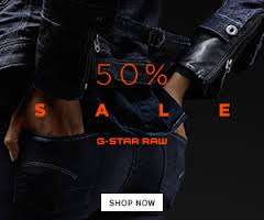 Sale met kortingen tot 50% voor Dames en Heren @ G-Star RAW