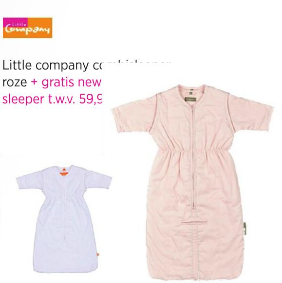 Little Company Combi Sleeper 110 cm + Gratis Newborn Sleeper 60 cm voor €52,47 @ Babypark