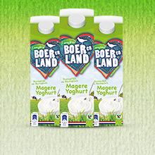 Gratis Boer en Land magere yoghurt (en drinkyoghurt) met Campina Eurosparen