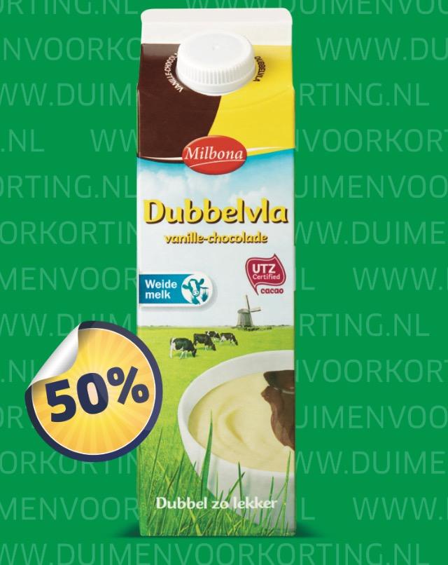 Dubbelvla vanille-chocolad met 50% korting bij Lidl.