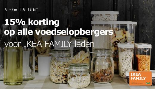 15% korting op alle voedselopbergers @ IKEA