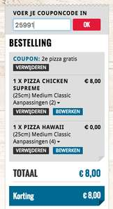 2e Pizza gratis @ Domino's