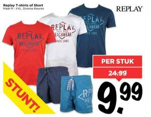 Replay heren T-shirts of short €9,99 @ Vomar