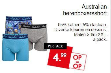 2-Pack Australian boxershorts €4,99 @ Dirk / Dekamarkt