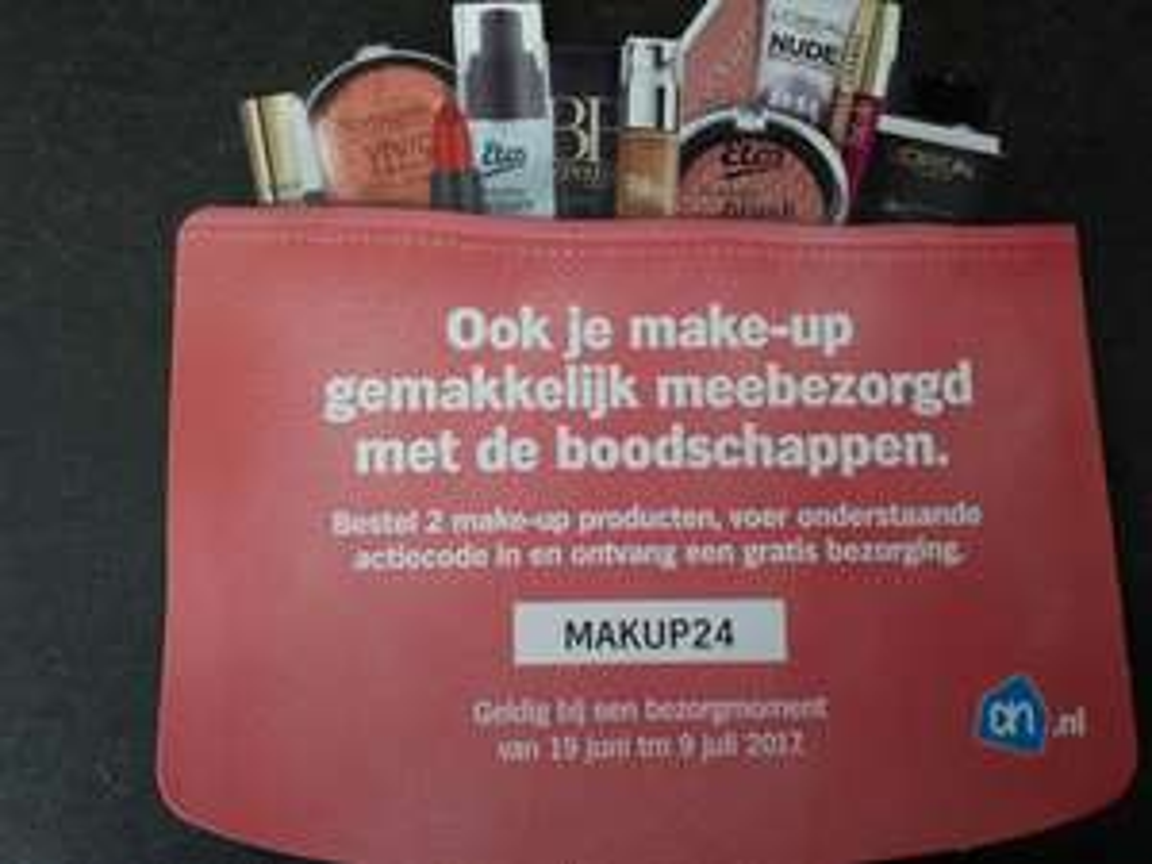 Gratis bezorging vanaf 19 juni @AH bij aankoop van 2stuks make-up producten