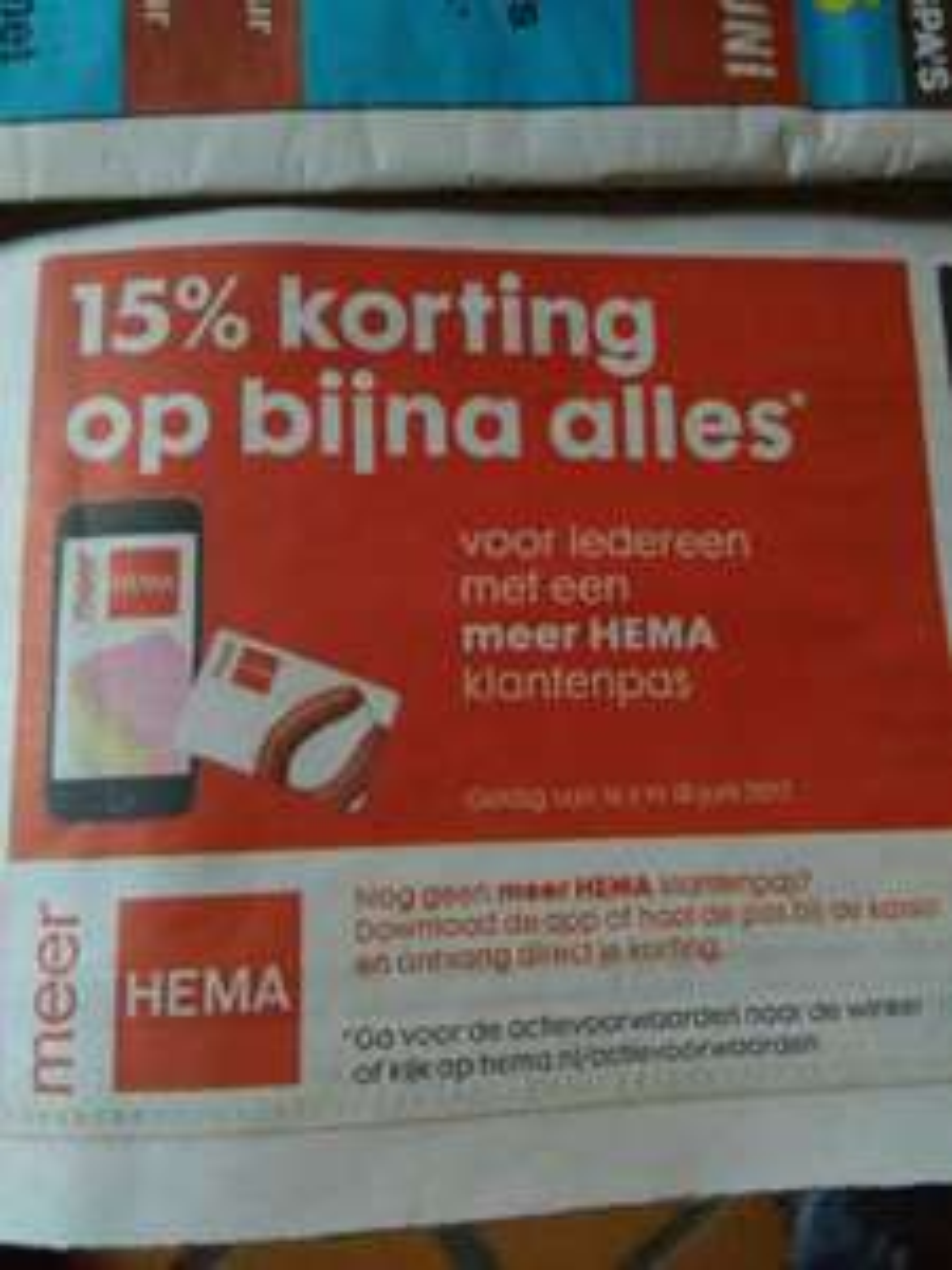 15% korting (16-6 t/m 18-6) ook online @ Hema