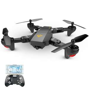 XS809W Upgraded Version XS809HW 2.4G Foldable RC Quadcopter @ Tomtop