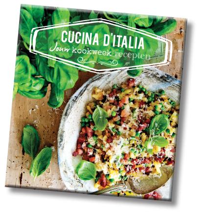 Gratis nieuwe kookboek 'Cucina d'italia' t.w.v. €19,95 bij Aviko!