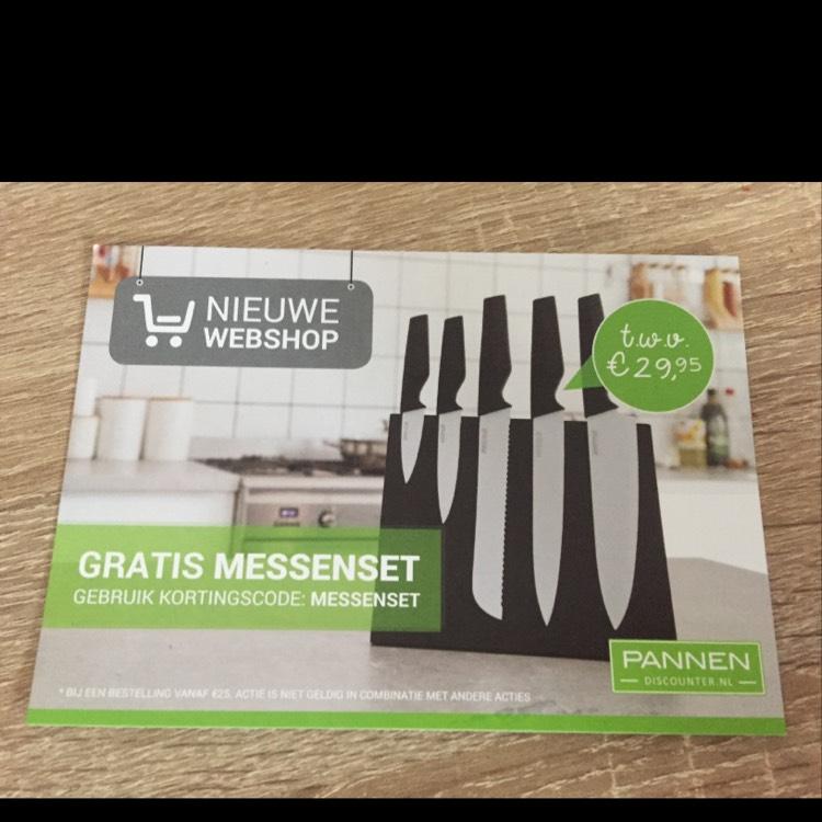 Gratis messenset t.w.v. 29,95 bij een besteding vanaf €25 @ Pannendiscount