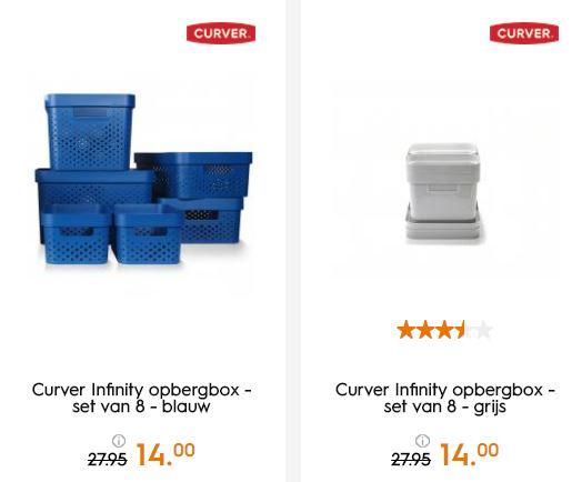Curver Infinity 8-delige opbergbox set met code €11,90 @ Blokker