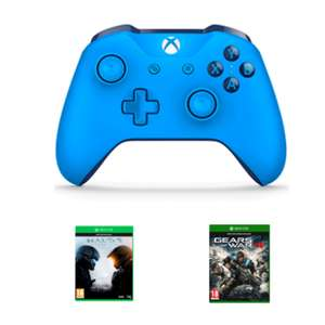 Xbox One S Blue Wireless Controller + Halo 5 Guardians + Gears of War 4 @ Game.co.uk