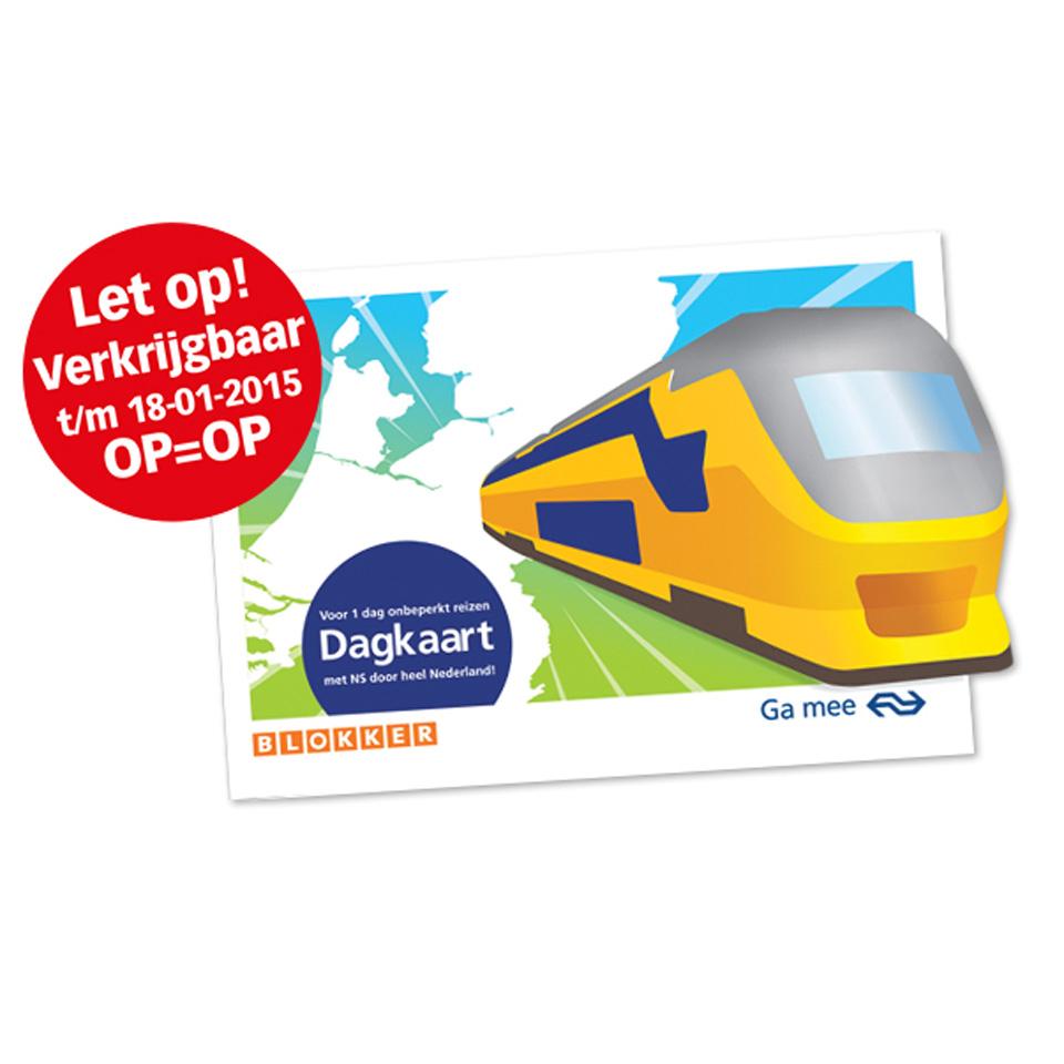 NS Dal Vrij Dagkaart voor €15,50 @ Blokker