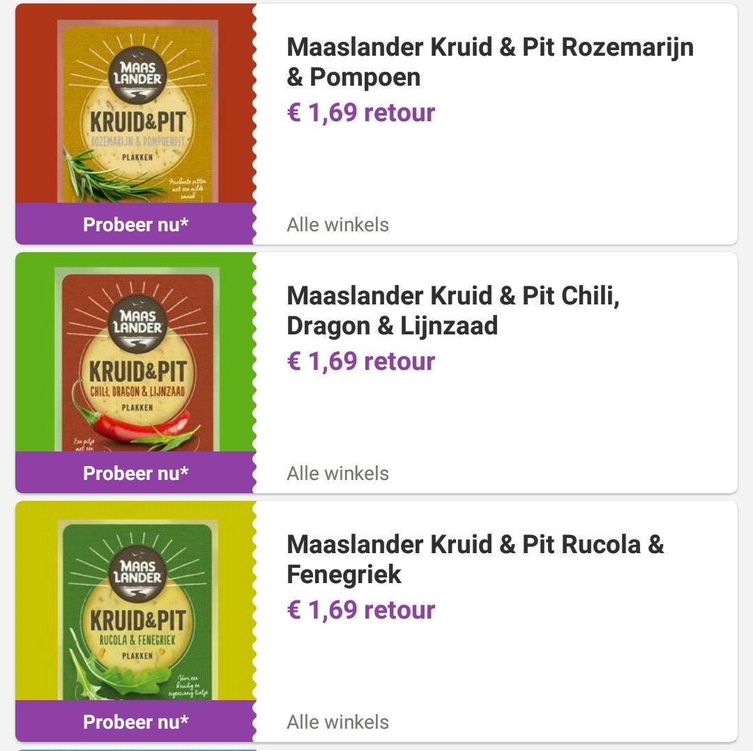 Probeer 3 soorten Maaslander kaas voor €1 p/s @ Reclamefolder