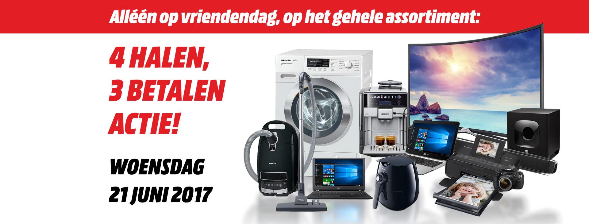 Woensdag 21 juni : 4 halen 3 betalen op bijna het gehele assortiment @ MM Leeuwarden